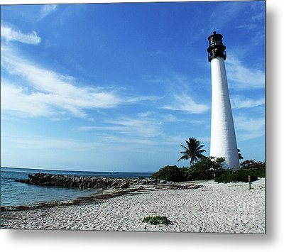Cape Florida Lighthouse Metal Print by Tammy Chesney