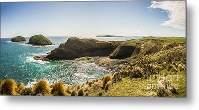 Cape Grim Cliff Panoramic Metal Print by Jorgo Photography - Wall Art Gallery