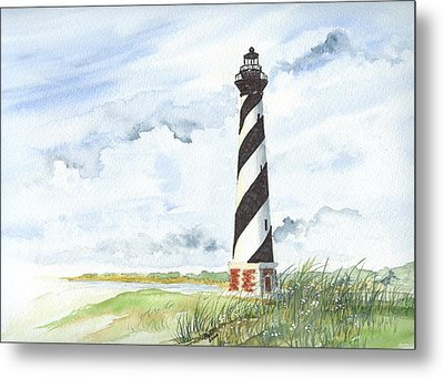 Cape Hatteras Lighthouse Metal Print by Denise   Hoff