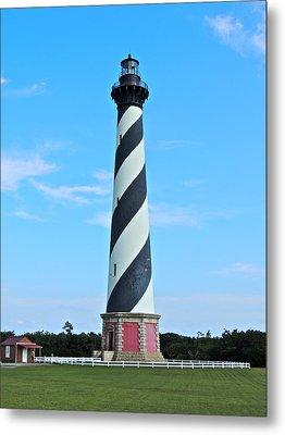 Cape Hatteras Lighthouse Lawn Metal Print