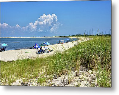 Metal Print featuring the photograph Cape Henlopen State Park - Beach Time by Brendan Reals