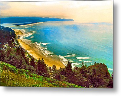 Cape Lookout From Oceanside Metal Print