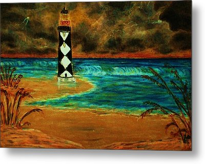 Cape Lookout Light House Metal Print by Jeanette Stewart