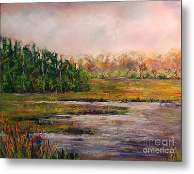 Cape May Marsh Metal Print by Joyce A Guariglia