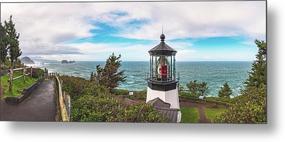 Metal Print featuring the photograph Cape Meares Bright by Darren White