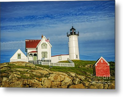 Cape Neddick Lighthouse Metal Print by Charles Dobbs