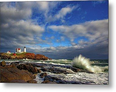 Cape Neddick Lighthouse Metal Print by Rick Berk