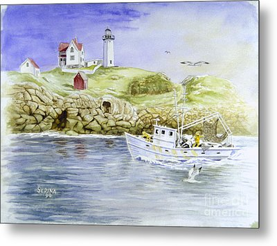 Cape Neddick Lighthouse Metal Print