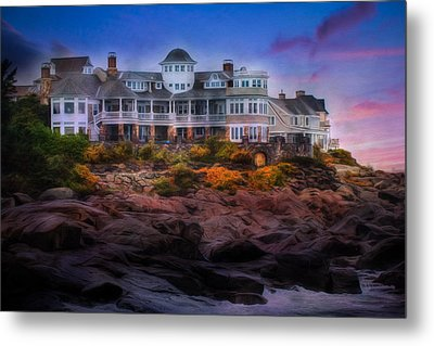 Metal Print featuring the photograph Cape Neddick Maine Scenic Vista by Shelley Neff