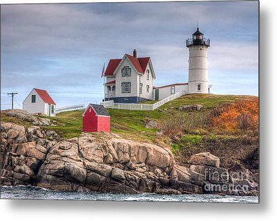 Cape Neddick Nubble Lighthouse I Metal Print by Clarence Holmes