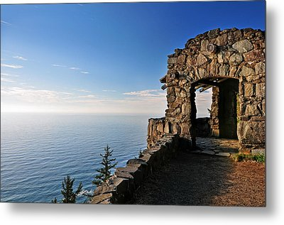 Metal Print featuring the photograph Cape Perpetua Stone Shelter by Lara Ellis