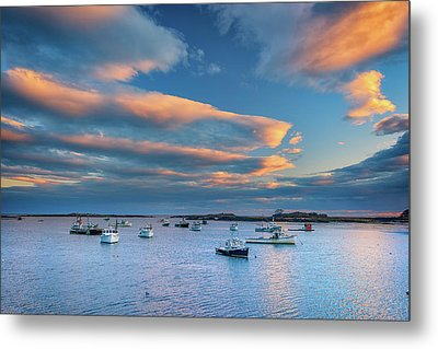 Metal Print featuring the photograph Cape Porpoise Harbor At Sunset by Rick Berk