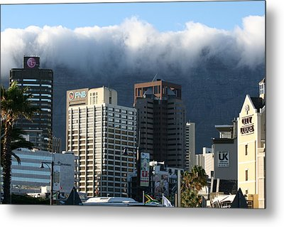 Cape Town - Smoking Mountain Metal Print by Andrei Fried