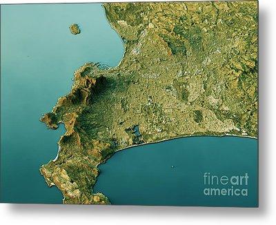Cape Town 3d Landscape View South-north Natural Color Metal Print by Frank Ramspott