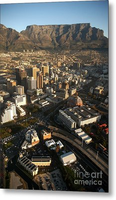 Cape Town From The Air Metal Print by Andy Smy