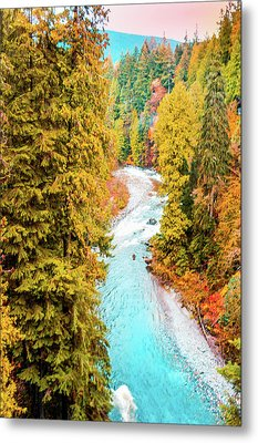 Capilano River, Vancouver Bc, Canada Metal Print by Art Spectrum