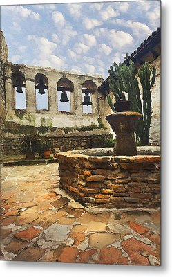 Capistrano Fountain Metal Print