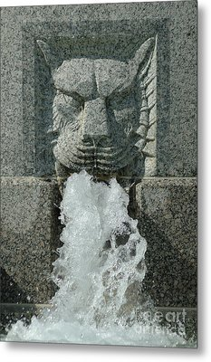 Senate Fountain Lion Metal Print