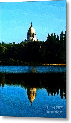 Metal Print featuring the photograph Capital Lake by Larry Keahey