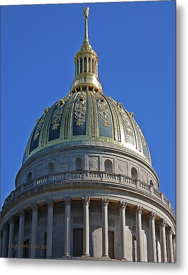 Capitol Dome Charleston Wv Metal Print by DigiArt Diaries by Vicky B Fuller