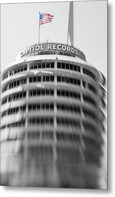 Metal Print featuring the photograph Capitol Records Building 18 by Micah May