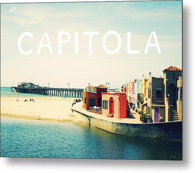 Capitola Metal Print by Linda Woods