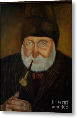Metal Print featuring the painting Cap'n Danny by Marlene Book