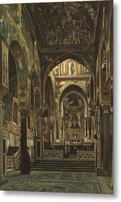 Cappella Palatina, Palermo  Metal Print by Frederic Leighton