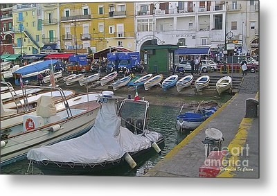 Capri Small Harbor Metal Print
