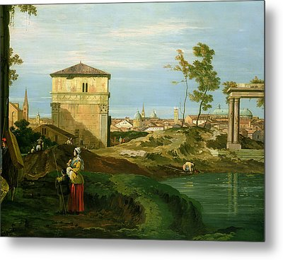 Capriccio With Motifs From Padua Metal Print by Canaletto