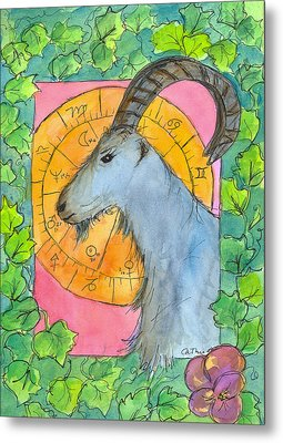 Metal Print featuring the painting Capricorn by Cathie Richardson