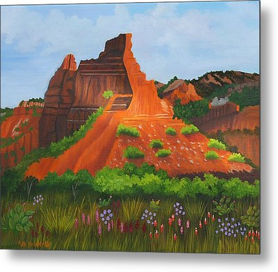 Caprock Canyon Texas Metal Print by Ruth  Housley