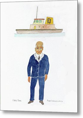 Capt. Don Metal Print by Fred Jinkins