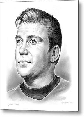 Capt. James T. Kirk Metal Print by Greg Joens