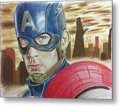 Captain America Metal Print by Michael McKenzie