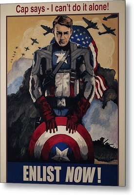 Captain America Recruiting Poster Metal Print