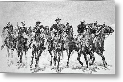 Captain Dodge's Troopers To The Rescue Metal Print by Frederic Remington