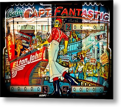 Captain Fantastic - Pinball Metal Print by Colleen Kammerer