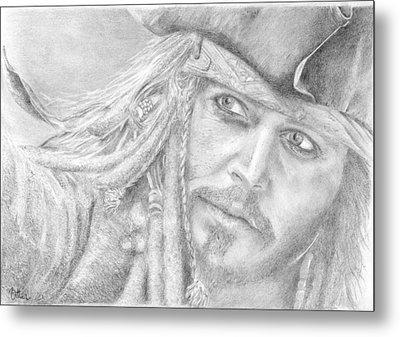Captain Jack Sparrow Metal Print by Bitten Kari