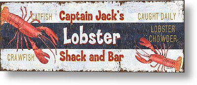 Captain Jack's Lobster Shack Metal Print by Debbie DeWitt