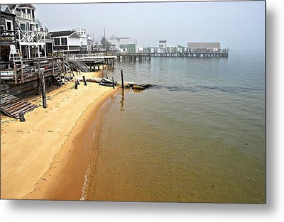 Captain Jacks Wharf Provincetown Ma Metal Print by AnnaJanessa PhotoArt