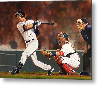 Captain - Jeter Metal Print