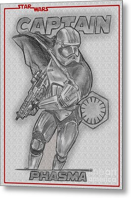 Captain Phasma Of The First Order Metal Print by Chris DelVecchio