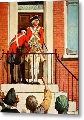 Captain Tennant With The Crowd In Front  Metal Print by Newell Convers Wyeth