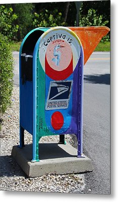 Metal Print featuring the photograph Captiva Island Mailbox- Vertical by Michiale Schneider