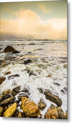 Captivating Coastal Sunrise Metal Print by Jorgo Photography - Wall Art Gallery