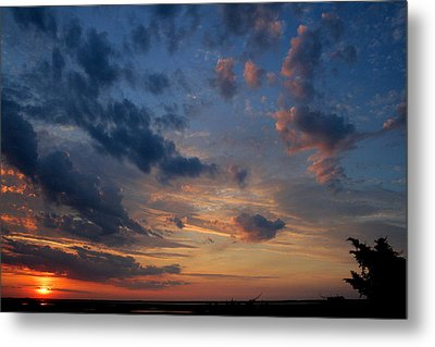 Captree Sunset Metal Print by Christopher Kirby