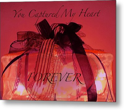 Captured My Heart Card Metal Print