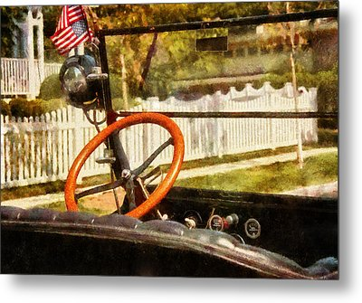 Car - Back To The Old Days Metal Print by Mike Savad