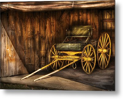 Car - Wagon - The Old Wagon Metal Print by Mike Savad